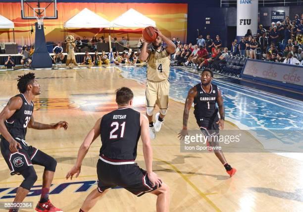 FIU guard Brian Beard Jr shoots during a college basketball game between the University of South Carolina Gamecocks and the Florida International...