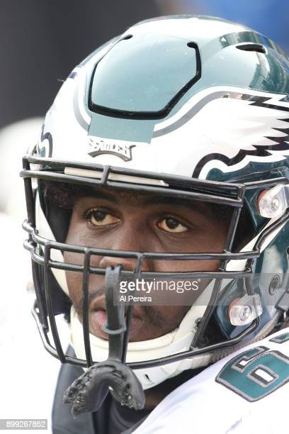 Guard Chance Warmack of the Philadelphia Eagles in action against the New York Giants during the game at MetLife Stadium on December 17 2017 in East...