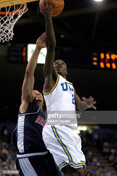 Guard Darren Collison of the UCLA Bruins in a 73 to 69 victory over the University of Arizona Wildcats on January 20 2007 at Pauley Pavillion in...