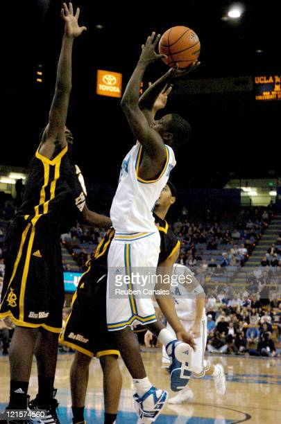 Guard Darren Collison of the UCLA Bruins in a a 88 to 58 victory over the Long Beach State 49ers on November 28 2006 at Pauley Pavillion in Westwood...