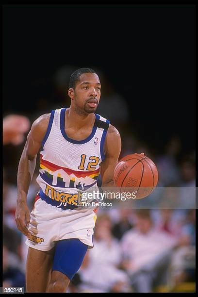 Guard Fat Lever of the Denver Nuggets moves the ball during a game at the McNichols Sports Arena in Denver, Colorado. Mandatory Credit: Tim DeFrisco...