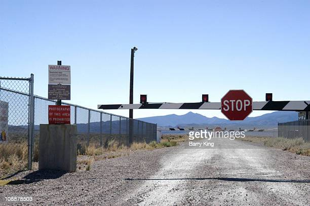 Guard Gate at Area 51 near Rachel, Nevada
