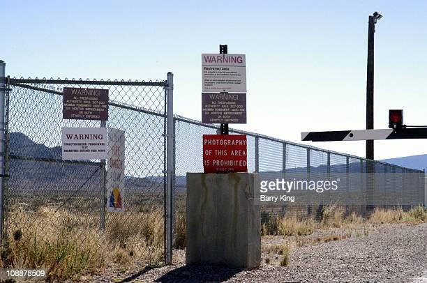 Guard Gate at Area 51 near Rachel Nevada