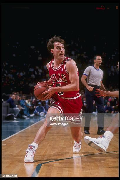 Guard John Paxson of the Chicago Bulls