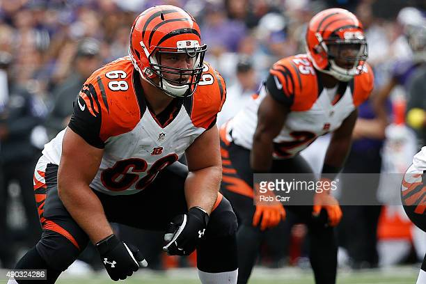 Guard Kevin Zeitler of the Cincinnati Bengals and running back Giovani Bernard of the Cincinnati Bengals stand at the line of scrimmage in the second...