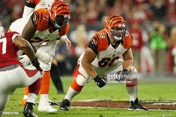 Guard Kevin Zeitler of the Cincinnati Bengals in action during the NFL game against the Arizona Cardinals at the University of Phoenix Stadium on...