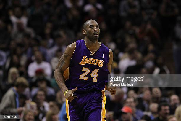 Guard Kobe Bryant of the Los Angeles Lakers at ATT Center on December 28 2010 in San Antonio Texas NOTE TO USER User expressly acknowledges and...