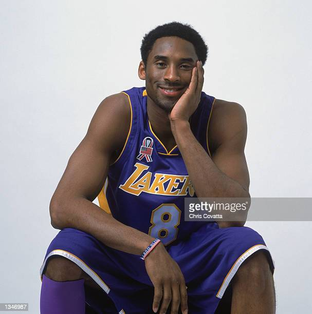 Guard Kobe Bryant of the Los Angeles Lakers poses for a studio portrait before the 2002 NBA All Star Game on February 2 2002 in Philadelphia...