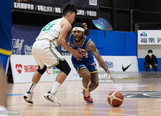 Guard Marcus Keene dribble during the SBL Finals Game One between Taiwan Beer and Yulon Luxgen Dinos at Hao Yu Trainning Center on April 21 2020 in...