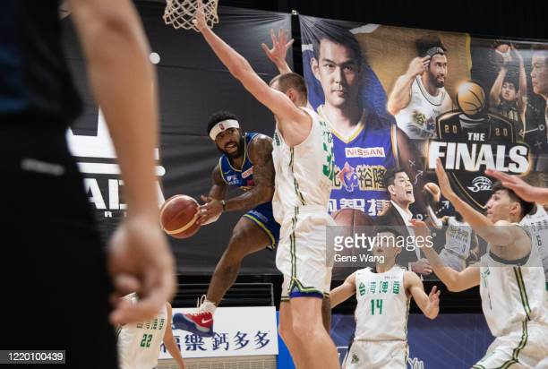 Guard Marcus Keene passong during the SBL Finals Game One between Taiwan Beer and Yulon Luxgen Dinos at Hao Yu Trainning Center on April 21 2020 in...