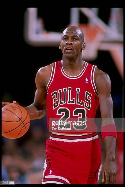 Guard Michael Jordan of the Chicago Bulls in action Mandatory Credit Tim de Frisco /Allsport