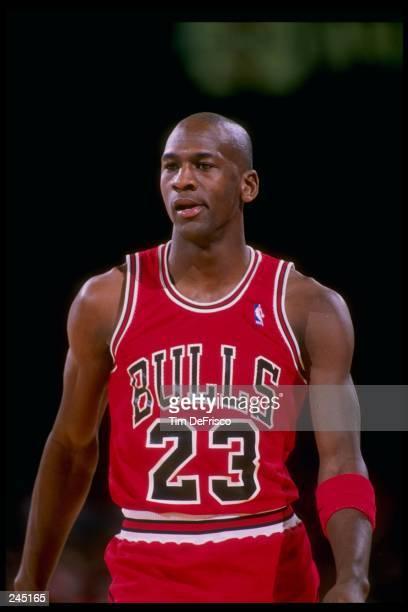 Guard Michael Jordan of the Chicago Bulls looks on Mandatory Credit Tim de Frisco /Allsport