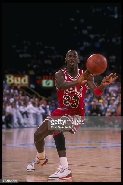 Guard Michael Jordan of the Chicago Bulls Mandatory Credit Otto Greule Jr /Allsport