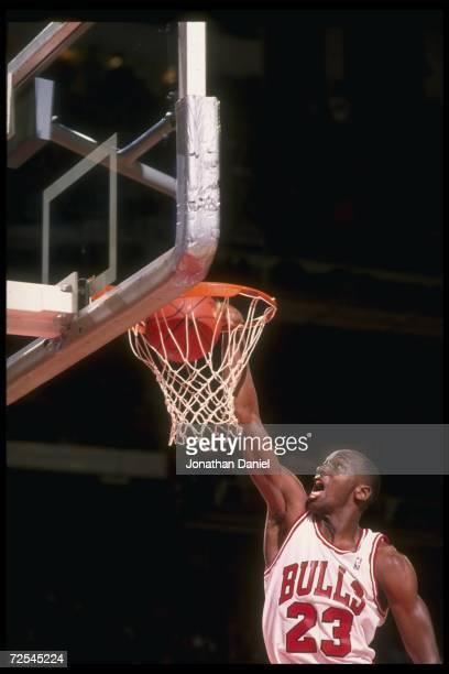 Guard Michael Jordan of the Chicago Bulls.