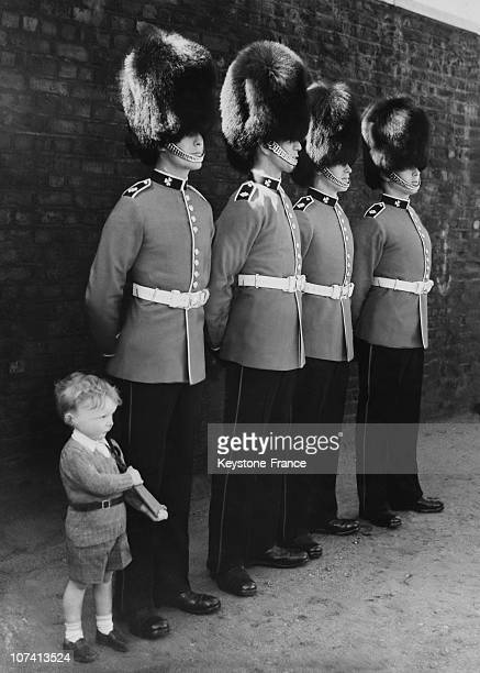 Guard Mounting At Hopse Guards Parade Child Taking The Salute With A Toy Rifle Next To Royal Guards On 1939