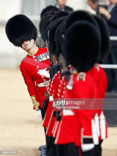 A guard of honour forms up prior to the start of the Official Ceremonial Welcome for the Chinese State Visit on October 20 2015 in London England The...