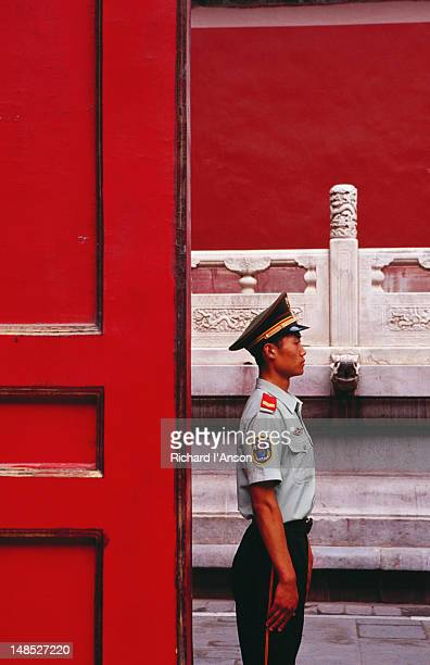 Guard on duty in the Forbidden City.