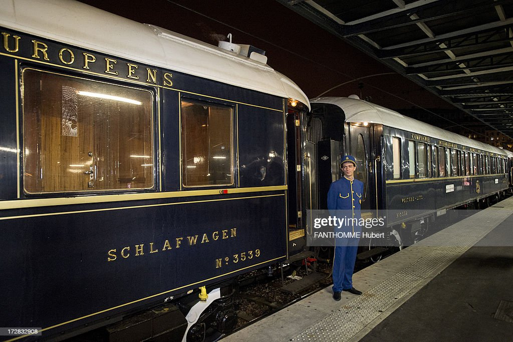 A Guard On The Platform In Front Of Venice Simplon Orient Express Train February