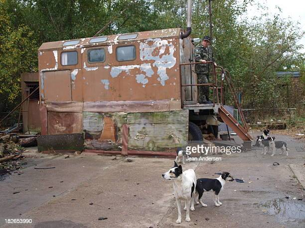 CONTENT] Guard post at chernobyl reaktor 5 The guard was alone but at least he had some dogs to keep him company
