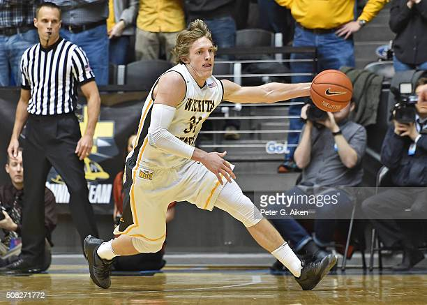 Guard Ron Baker of the Wichita State Shockers runs down a loose ball against the Southern Illinois Salukis during the first half on February 3 2016...