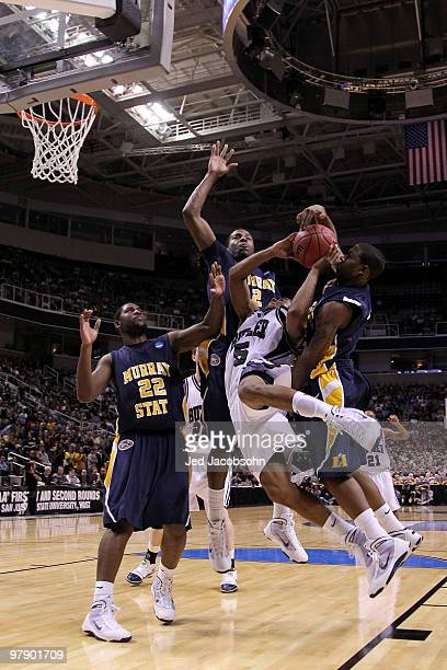 Guard Ronald Nored of the Butler Bulldogs goes up for a shot against the Murray State Racers during the second round of the 2010 NCAA men's...