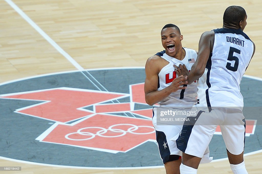 US guard Russell Westbrook and US forwar : News Photo