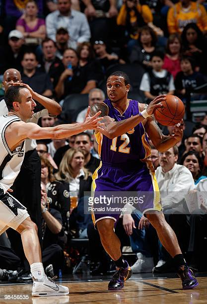 Guard Shannon Brown of the Los Angeles Lakers at AT&T Center on March 24, 2010 in San Antonio, Texas. NOTE TO USER: User expressly acknowledges and...