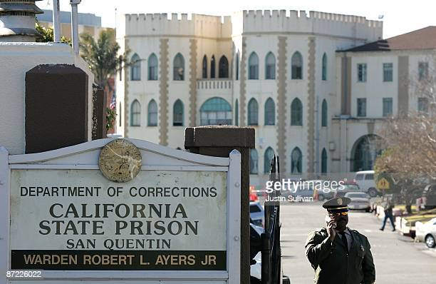 A guard stands at the entrance to the California State Prison at San Quentin January 22 2007 in San Quentin California According to reports May 14...