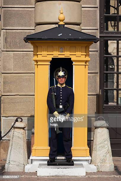 guard stands at the royal palace, stockholm - the stockholm palace stock pictures, royalty-free photos & images