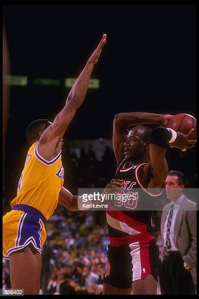Guard Terry Porter of the Portland Trail Blazers looks to pass the ball during a game. Mandatory Credit: Ken Levine /Allsport Mandatory Credit: Ken...