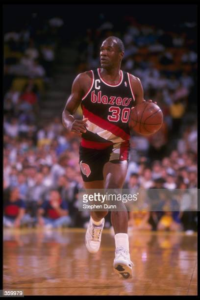 Guard Terry Porter of the Portland Trail Blazers moves the ball during a game Mandatory Credit Stephen Dunn /Allsport Mandatory Credit Stephen Dunn...