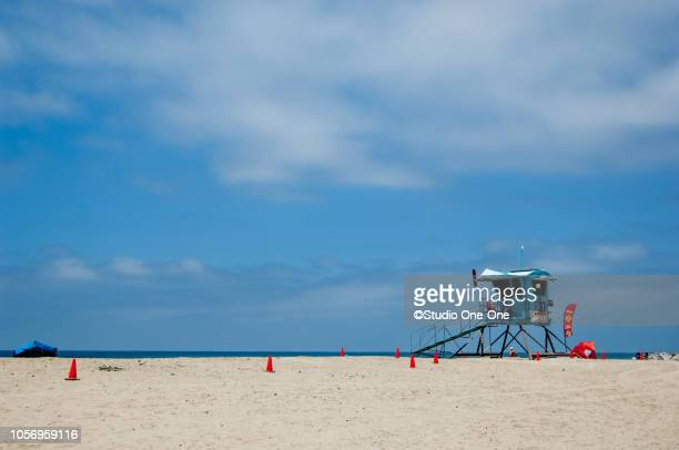 guard tower and cones - carlsbad california stock pictures, royalty-free photos & images