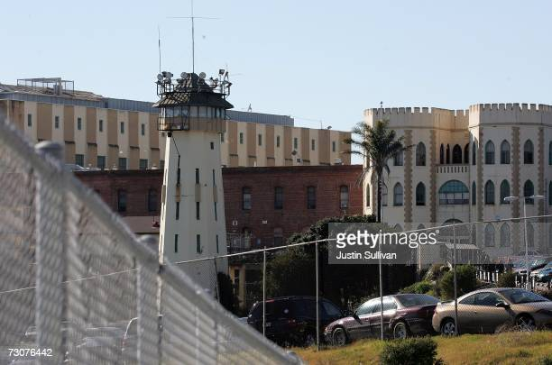 A guard tower is seen on the grounds of the California State Prison at San Quentin January 22 2007 in San Quentin California The US Supreme court...