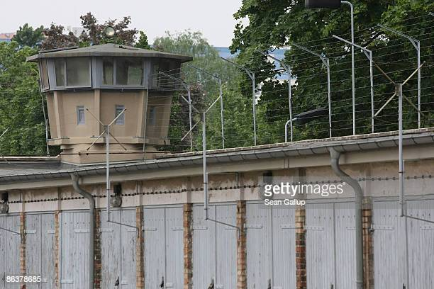 A guard tower stands at the former prison of the East German communistera secret police known as the Stasi at Hohenschoenhausen on May 5 2009 in...