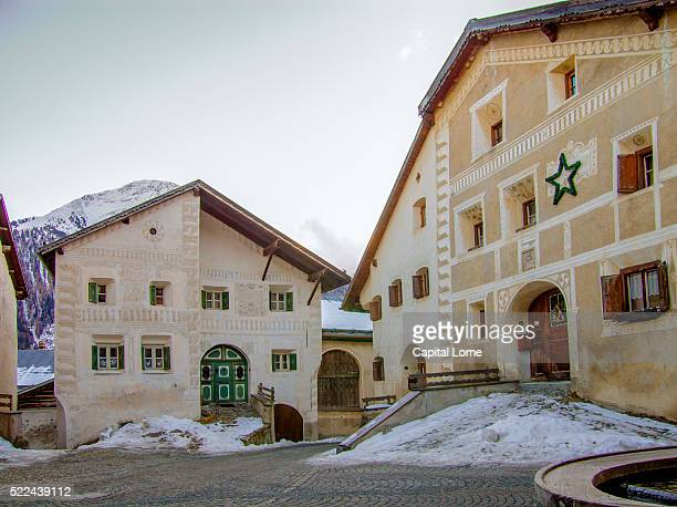 guarda - guarda switzerland stock pictures, royalty-free photos & images
