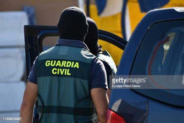 Guardia Civil officers are seen in Ceuta during an operation against the trafficking of migrants on June 04 2019 in Ceuta Spain