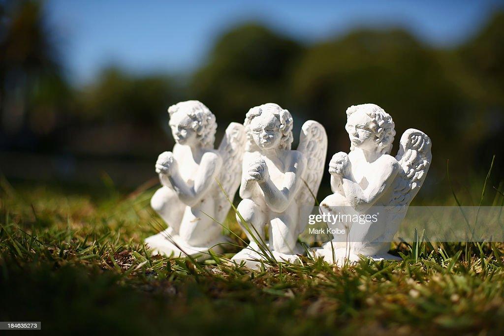 'Guardian Angels' by Judith Kirby is seen as part of the 'Hidden' sculpture walk at Rookwood Cemetery on October 15, 2013 in Sydney, Australia. The 'Hidden' sculpture walk at Rookwood Cemetery in western Sydney is an annual exhibition, free to the public, that features scultpure artworks amongst gravesites and memorials. Rookwood is the largest known cemetery in the Southern Hemisphere, operating the oldest operating creamtorium in Australia, and serves a large and diverse ethnic community.