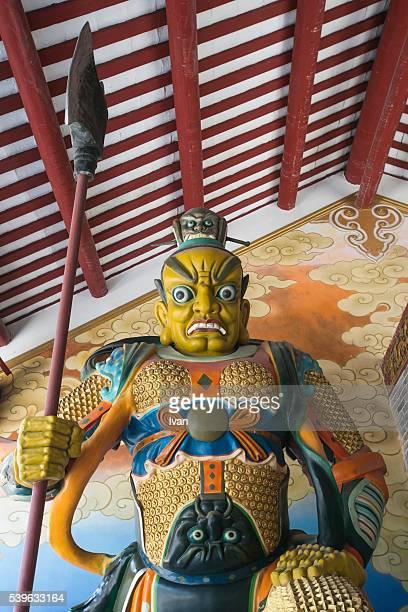 Guardian Door Gods of Chinese Temple