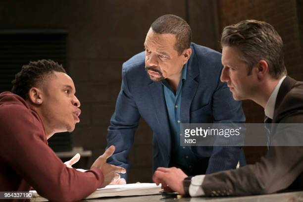 UNIT Guardian Episode 1921 Pictured Rotimi Akinosho as Malik Williams Ice T as Odafin Fin Tutuola Peter Scanavino as Dominick Sonny Carisi Photo by...