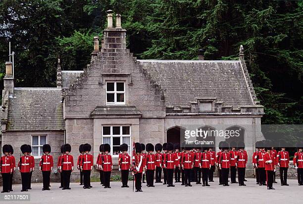 Guards Of Honour Outside The Lodge At Balmoral To Welcome The Queen