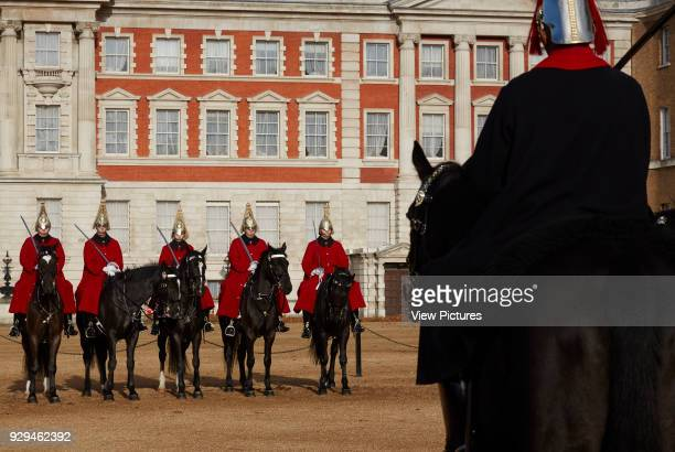 Guards on horse back on Horse Guards Parade London Architectural Stock Various United Kingdom Architect n/a 2016