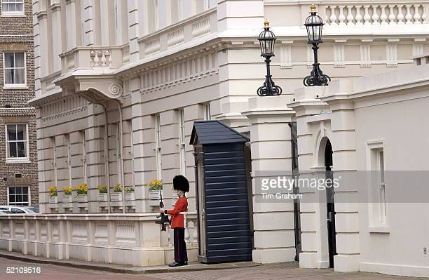 Guardsman Holding His Rifle Outside Clarence House