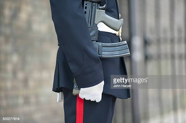 guardsman outside clarence house, london - catherine duchess of cambridge photos stock pictures, royalty-free photos & images
