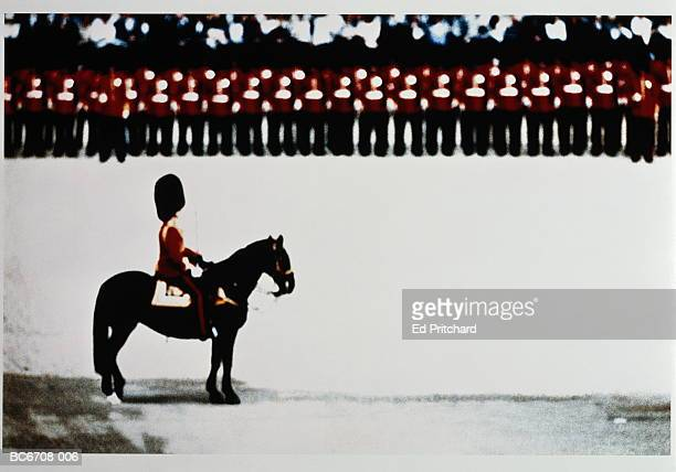 Guardsmen on parade, London, England (Digital Enhancement)