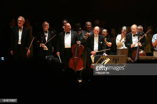 Guarneri String Quartet performing at the Metropolitan Museum on Saturday night May 16 2009This imageCurtain call From far left Arnold Steinhardt...