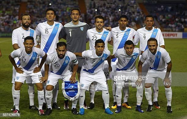 Guatamala lines up during a game against Venezuela at Lockhart Stadium on June 1 2016 in Boca Raton Florida