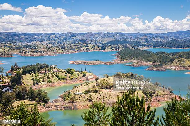 Guatape Lake area view from Piedra de Penon
