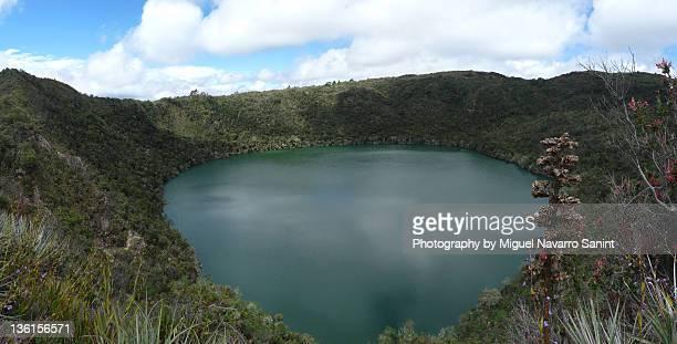 guatavita lake - cundinamarca stock pictures, royalty-free photos & images