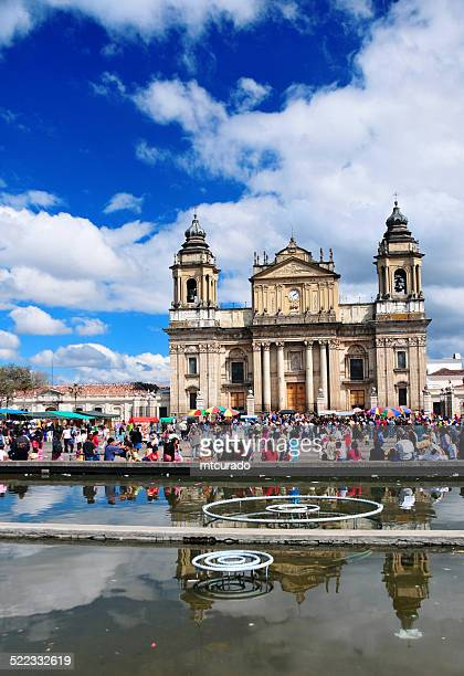 guatemala city: cathedral and main square - guatemala city stock pictures, royalty-free photos & images