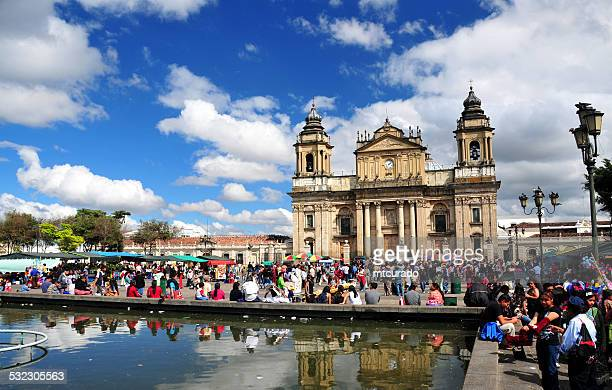 guatemala city - cathedral and main square - guatemala city stock pictures, royalty-free photos & images